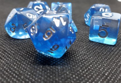 RPG Wuerfel Set Domino Blue