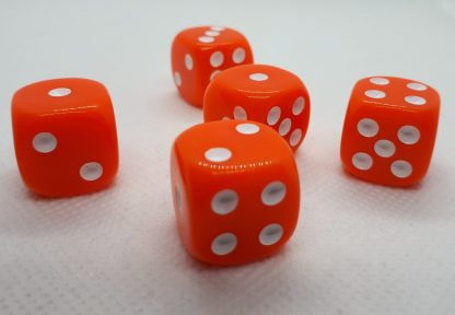 RPG Wuerfel Set D6 16mm Opaque Orange