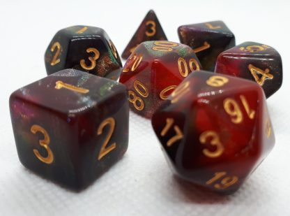 RPG Wuerfel Set Galaxy Red