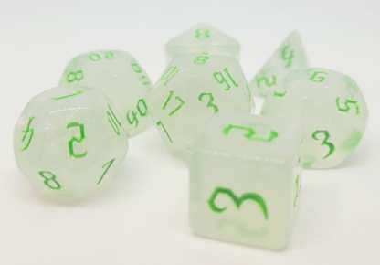 RPG Wuerfel Set Frosted Chaos Green