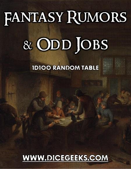 RPG job random table
