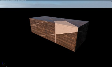 3d model with materials