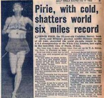 Pirie's 6 mile Record