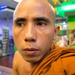 Met with U Man (Mandela), a 30 yr old who has been a monk since turning 13, at the Taw Win shopping center, a venue he found to be unfamiliar.