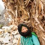Woman Carrying Corn Stalks, Đồng Văn