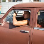 Men in Brown Car, Havana