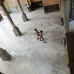 Children play in the courtyard below a restaurant, a $2,000,000-per-year private paladare.  Paladares have grown rapidly over the past 2 years under new regulations by Raul Castro allowing them to serve meat and seafood, which had previously only been available at state restaurants.