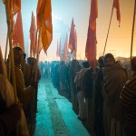 Pre-dawn preparation to march for Makar Sankranti, the first bathing day on January 14
