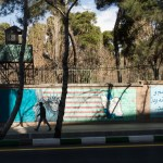 Mural on wall surrounding former US Embassy (or US Den of Espionage as it is called by the Iranians).  During the Iranian Revolution in 1979-1980, 52 Americans were held hostage for 444 days, part of the complex American-Iranian history.