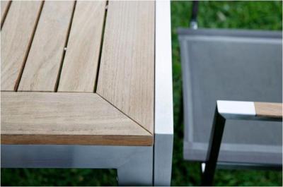table exterieur jardin carree teck et inox vienna 90