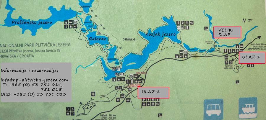 Plitvice mapa