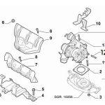Catalytic Converter to Turbo Stud (Fiat/Abarth 500)