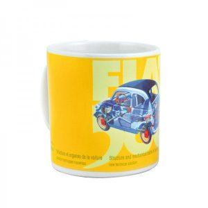 Fiat Yellow Ceramic Mug