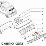 Button for Lift Gate Panel & Scuff Plate (Fiat/Abarth 500)