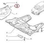 Mudguard Clip (Fiat/Abarth 500)