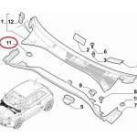 Wiper Cowl Trim Clip (Fiat/Abarth 500)