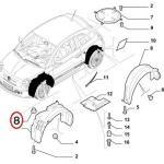 Plastic Nut For Fender Liner & Wiper Cowl (Fiat/Abarth 500)