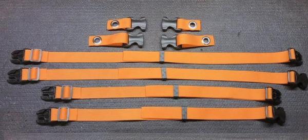 RacerFlash Cargo Straps Orange
