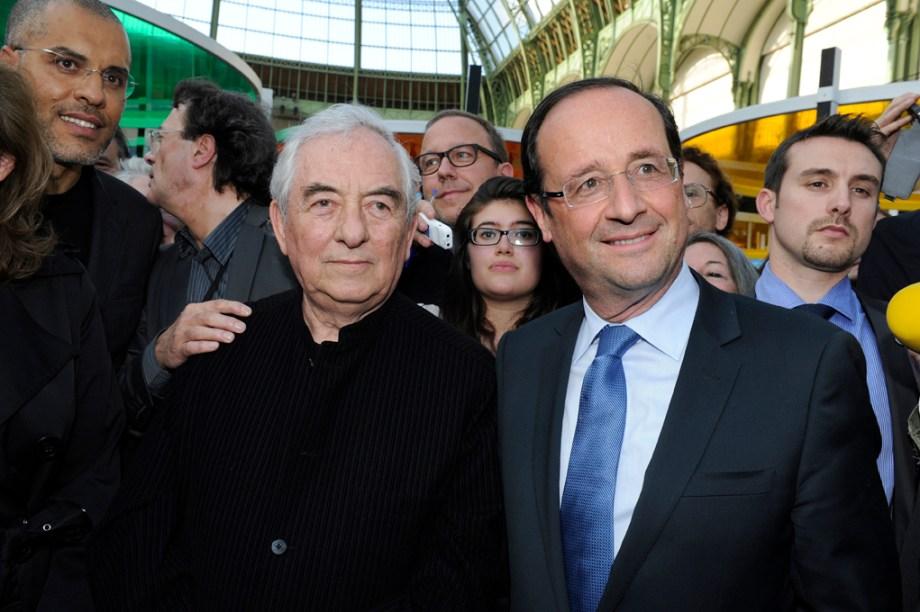 Daniel Buren et François Hollande