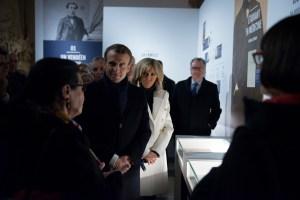 Emmanuel et Brigitte Macron Exposition CLEMENCEAU au PANTHEON