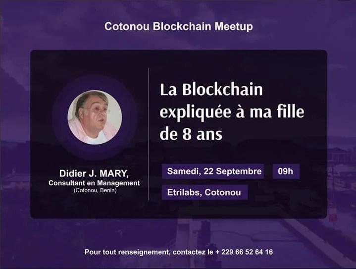 cotonou blockchain meetup - Didier MARY