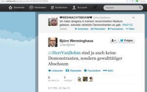 Screenshot Tweet Björn Werminghaus