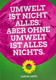 Wahlplakat Grüne