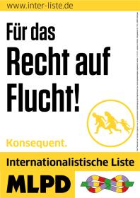 MLPD zum Recht auf Flucht für Deutsche