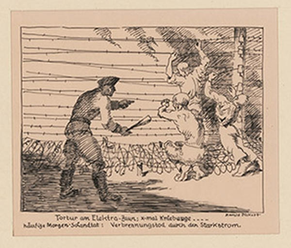Tortur am Elektrozaun: x-mal Kniebeuge ...
