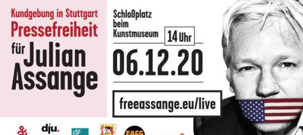 Veranstaltung zum Friedenspreis für Julian Assange