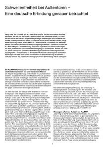 Schwellenfreie Außentüren, Cover von der Publikation von Ulrike Jocham, der Frau Nullschwelle aus 2012