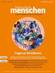 Cover von BEHINDERTE MENSCHEN, Ausgabe 4-5/2015 das den Artikel DIN-Normen ungeprüft und teuer von Ulrike Jocham, der Frau Nullschwelle enthält