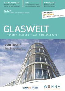 """Cover von der Glaswelt 10/2017, hier ist der Beitrag """" Es muss die echte Nullschwelle sein"""" von Ulrike Jocham, der Frau Nullschwelle erschienen"""