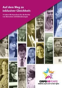 """Cover und Link zur Broschüre: """"Auf dem Weg zu inklusiver Gleichheit"""" vorgestellt im Blogbeitrag von Ulrike Jocham, der Frau Nullschwelle zum UN-Behindertenrechtskomitee - Individualbeschwerde"""