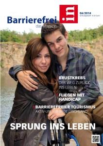Cover von Barrierefrei - Das Magazin Ausgabe 6/2014 mit Artikel von Ulrike Jocham, der Frau Nullschwelle zum Bielefelder Modell und den darin eingebauten Nullschwellen
