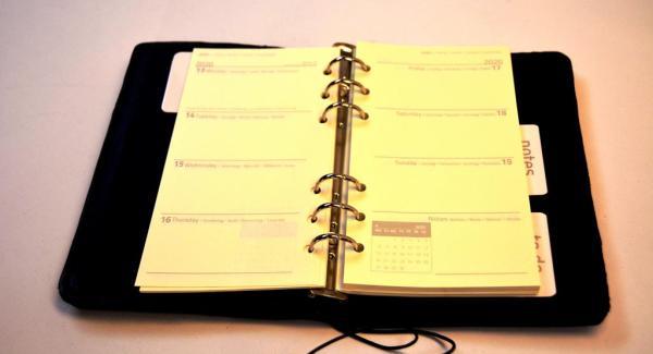 Kalender 2020 Lederhülle Lederbuch Wochenplaner