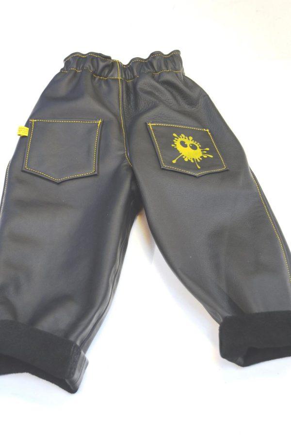 Lederhose schwarz Gr 86-92-98 Rückseite