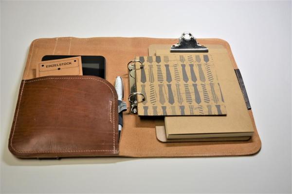 Schreibmappe Ledermappe Padtasche