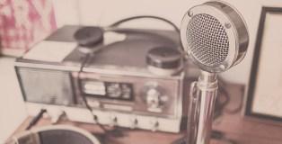 Mikrophone für Interview mit Olaf Schmidt