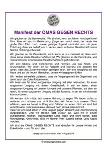 Omas gegen Rechts - Manifest