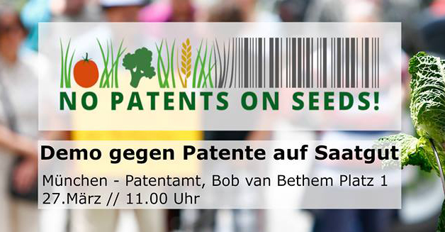 NO PATENTS ON SEEDS!