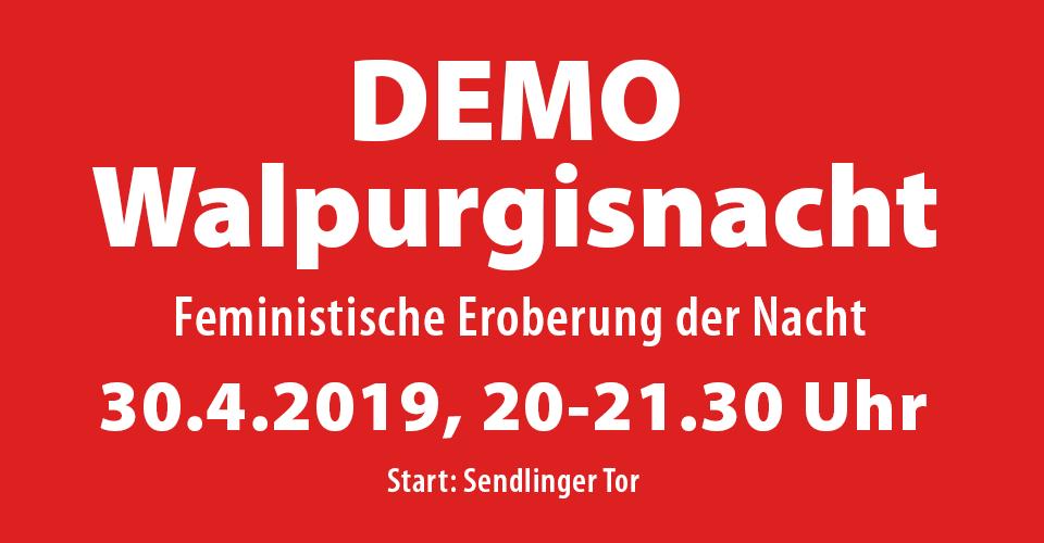 Walpurgisnacht Frauendemo München 2019
