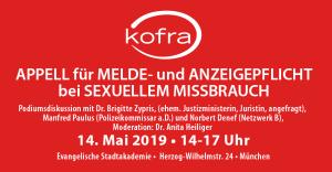 Appell für Melde- und Anzeigepflicht bei sexuellem Missbrauch
