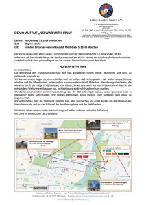 Demo - No war with Iran - 1.6.2019 - München