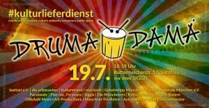 Drumadama Street-Percussion Kulturlieferdienst München