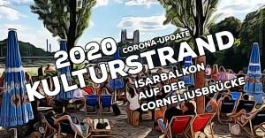 Kulturstrand München 2020 auf dem Isarbalkon