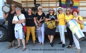 Trommegruppe Drumadama - Support für den Randgruppenkrawall