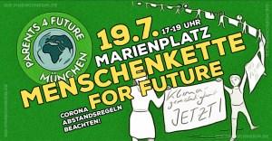 Menschenkette for Future - Parents for Future München