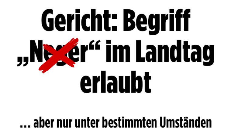 Petition N-Wort stoppen