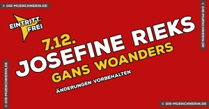 Josefine Rieks Lesung im Gans Woanders
